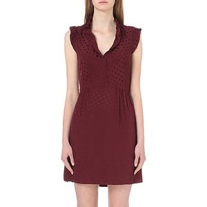 NWT Sandro Burgundy Jasmine Casual Dress